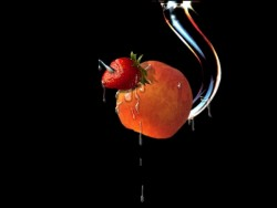 anzol com fruta