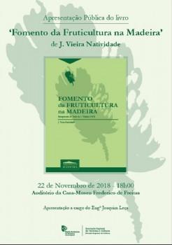 Cartaz reimpressao Fomento Fruticultura Madeira 22 11 2018
