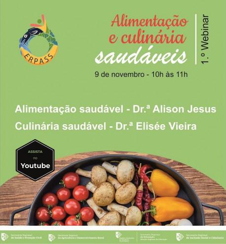 webinar alimentacao e culinaria saudaveis CARTAZ