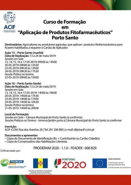 cursoPF Porto Santo ACIF CARTAZ