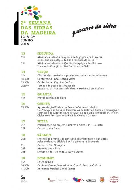 Programa Semana das Sidras 16